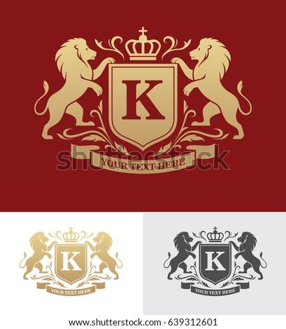 golden crest design with...