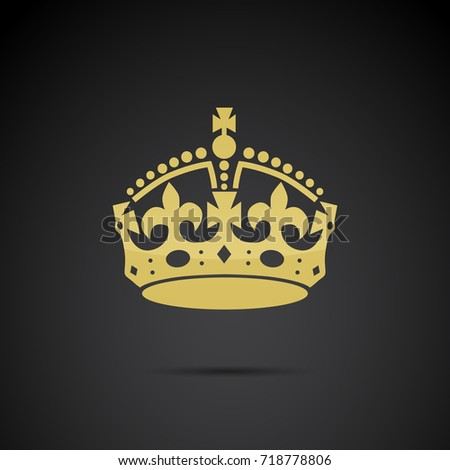 golden crown icon isolated on