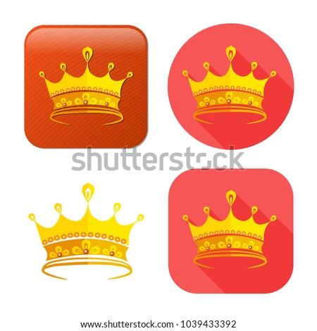 golden crown icon   vector king