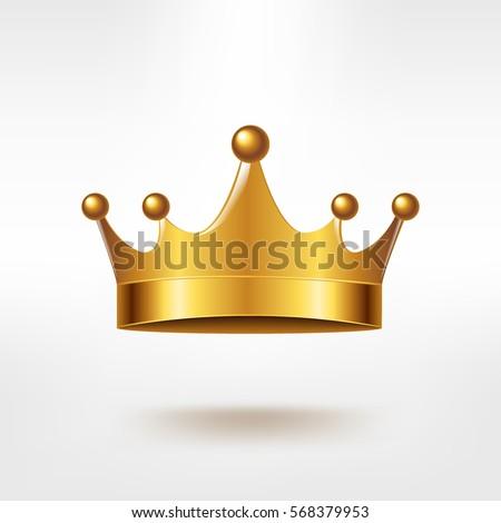 golden crown  with gradient