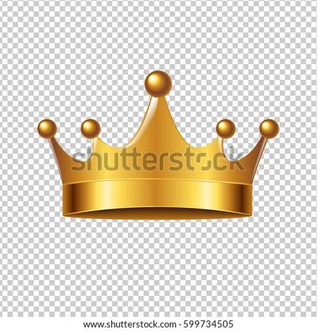 golden crown with gradient mesh