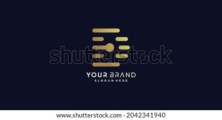 Golden D letter logo with modern creative concept Premium Vector part 8 Photo stock ©