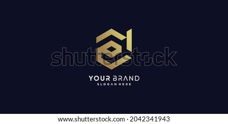 Golden D letter logo with modern creative concept Premium Vector part 1 Photo stock ©