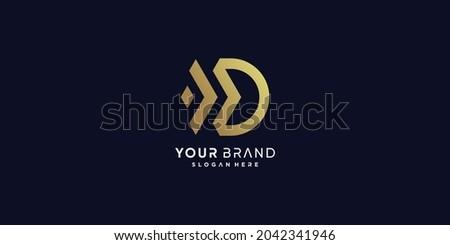 Golden D letter logo with modern creative concept Premium Vector part 2 Photo stock ©