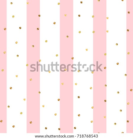 stock-vector-golden-dots-seamless-pattern-on-pink-striped-overwhelming-background