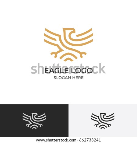 golden eagle logo concept