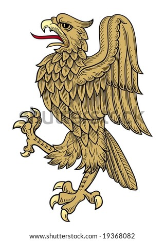 stock vector : golden eagle vector