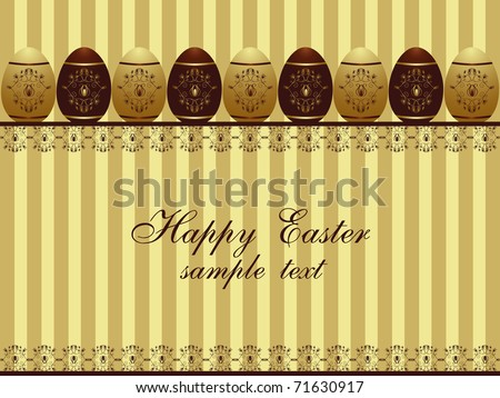 golden easter background