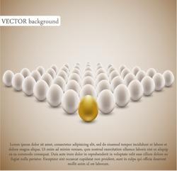 Golden egg concept background.
