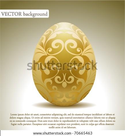 golden egg with floral