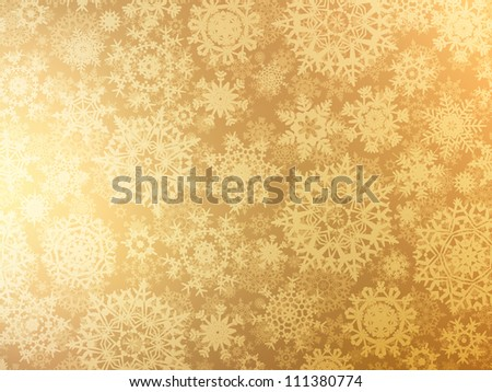 Golden elegant christmas template EPS 8 vector file included