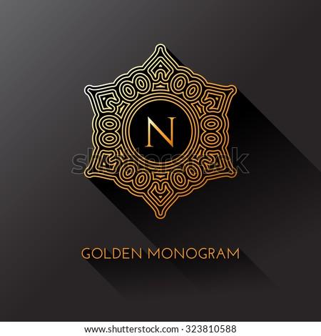 golden elegant monogram with