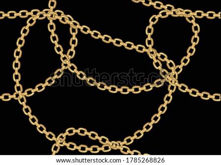 golden fashion chain print