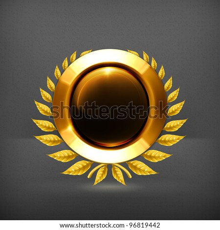 Golden frame, eps10