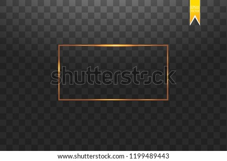 088dbcedb65 shiny golden frame with glows - Download Free Vector Art