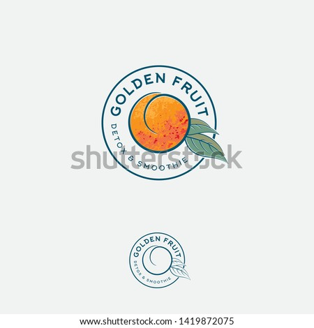 golden fruit logo and label