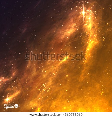 golden galaxy background space