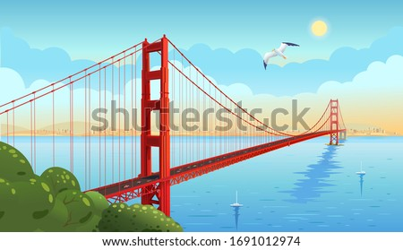 golden gate bridge across the