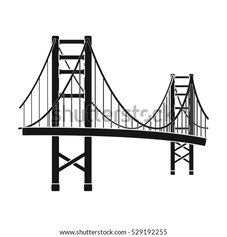 golden gate bridge icon in