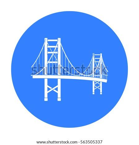 golden gate bridge icon in