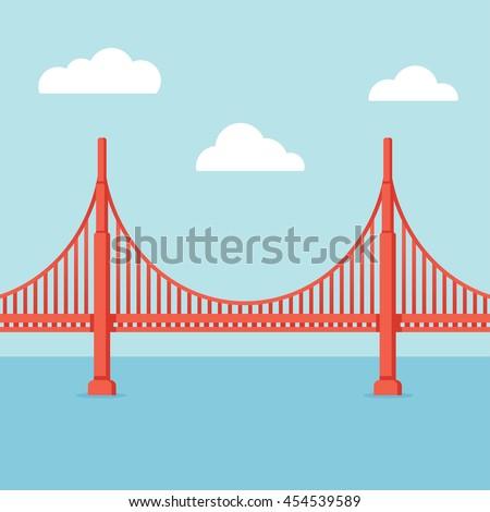 golden gate bridge illustration....