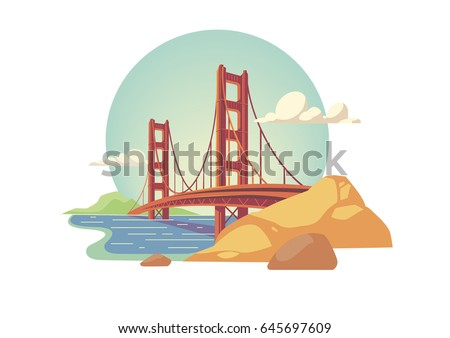 golden gate bridge isolated...