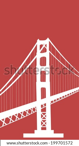 golden gate bridge vector art