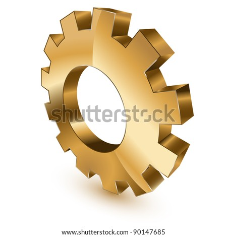 Golden gear wheel