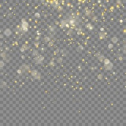 Golden glitter Christmas abstract effect for luxury greeting rich card. Glowing golden shimmer texture for new year, Christmas design. And also includes EPS 10 vector