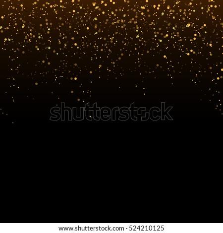 golden glitter confetti falling