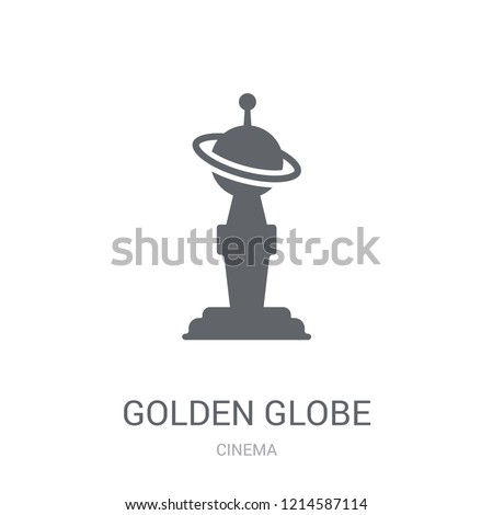golden globe icon trendy