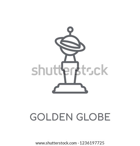 golden globe linear icon