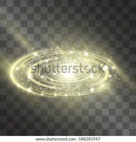 golden glow vector light effect