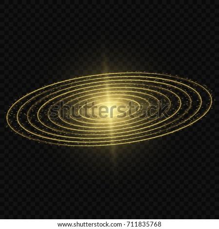 golden glow vector light effect
