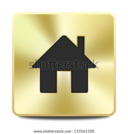 Golden house icon