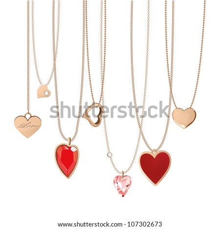 golden  jewelry chain with