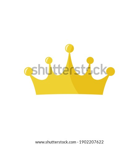 Golden king crown vector icon on white background Сток-фото ©