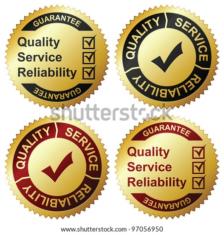 Golden labels - stock vector