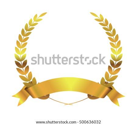 Gold Laurel Wreath Vector Labels - Download Free Vector Art, Stock ...