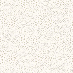 Golden leopard print pattern. Vector seamless background. Subtle animal skin texture of jaguar, leopard, cheetah, panther, puma. White and gold pattern with spots. Repeated design for decor, textile