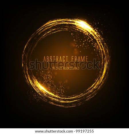 golden light effects frame