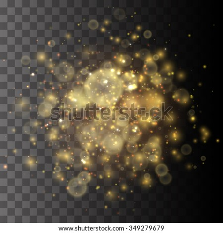 golden lights vector background