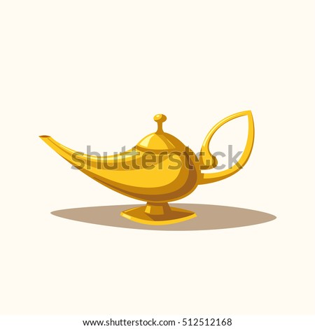 golden magic lamp fable