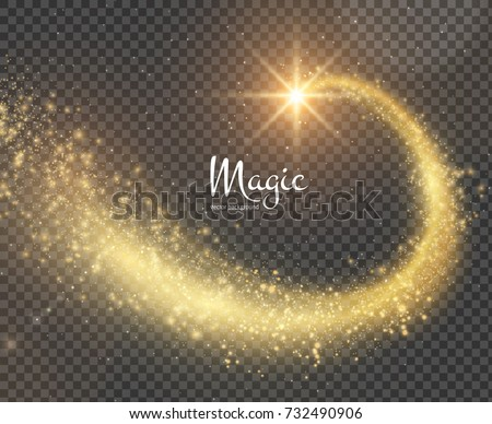 golden magic star with