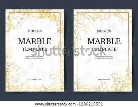 Golden Marble Template.can use artistic covers design, realistic cube, backgrounds, Trendy pattern, graphic poster, brochure, cards. Vector illustration. - Vector