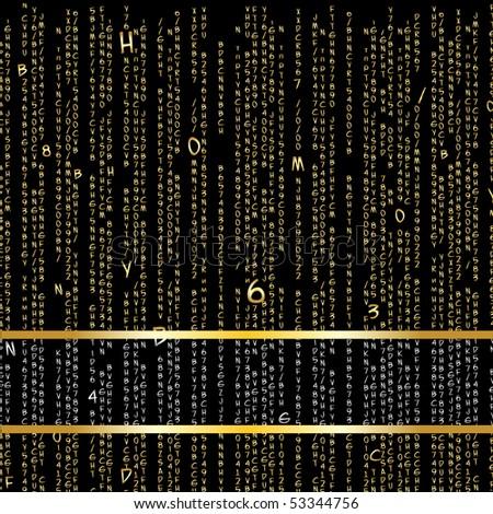 Golden matrix. Vector background format 10 EPS