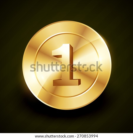 golden no 1 vector label design