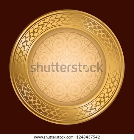 Golden ornate decorative frame