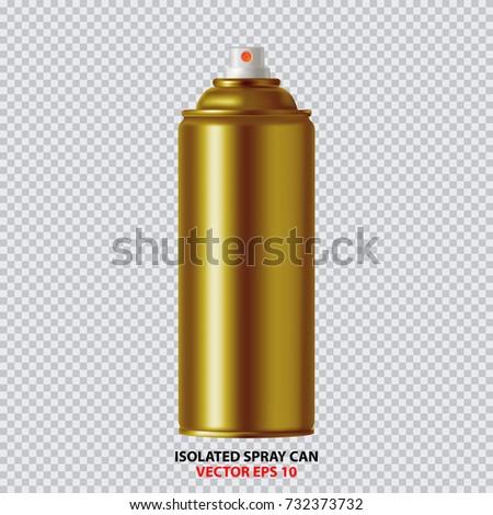 Golden Paint Aerosol Spray Metal Bottle Can, Graffiti, Deodorant, Household Chemicals, Poison.