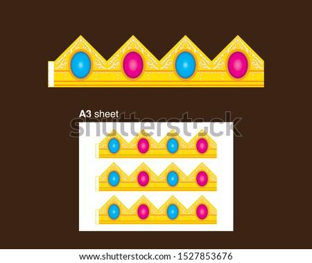 golden paper female crown